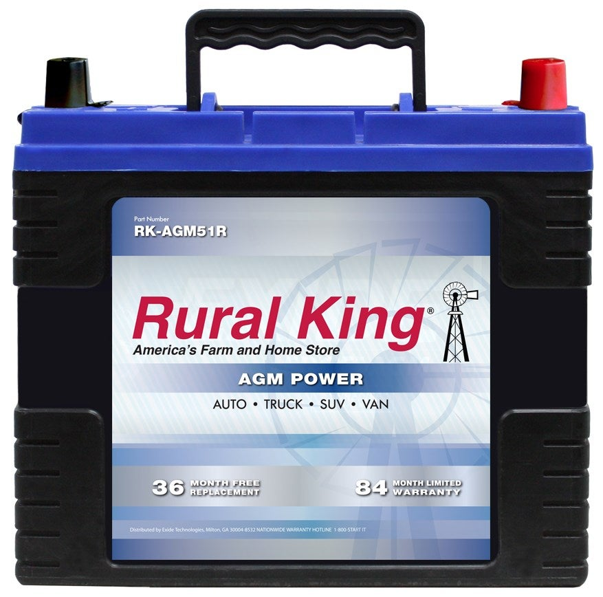 Rural King Automotive AGM Group 51R Battery RK-AGM51R